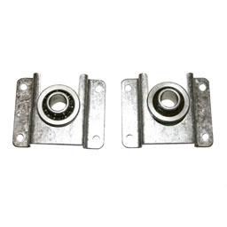 Soportes metálicos con rodamientos