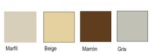 Colores Persianas Pvc.